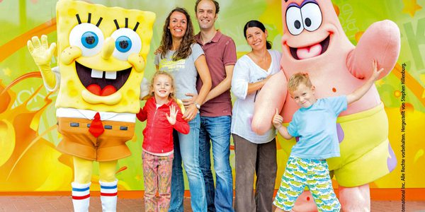 Movie Park Germany - Film- und Vergnügungspark Familie mit Spongebob