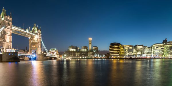 London bei Nacht Tower Bridge