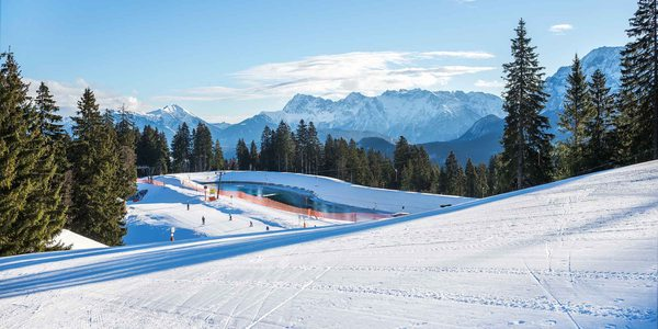 Wintersport Skipiste Garmisch-Partenkirchen